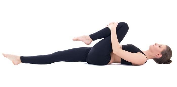 herniated disc exercises - knee to chest stretch
