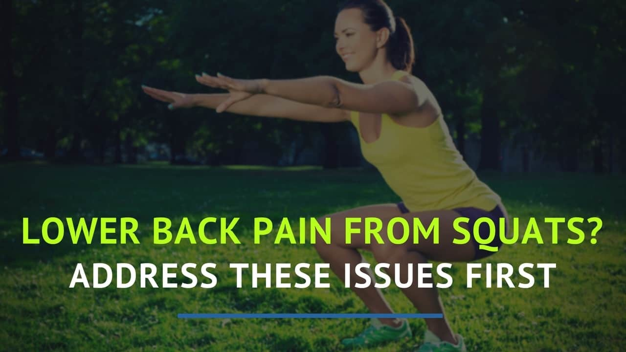 lower back pain from squats