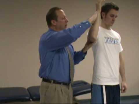Hornblower's sign - strained rotator cuff