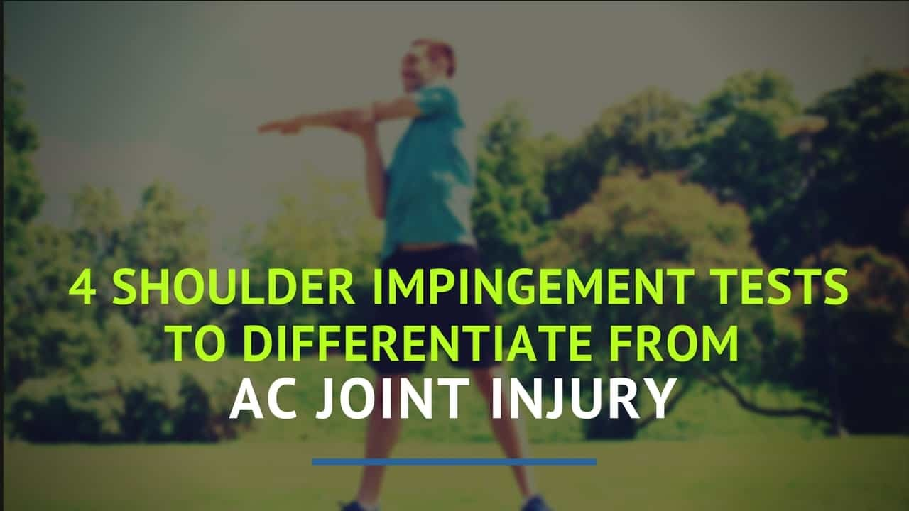 Shoulder pain can really throw you for a loop - especially if you aren't quite sure what's wrong or how to fix it. Read on to learn about shoulder impingement tests that will help you get back your aim, and your game.