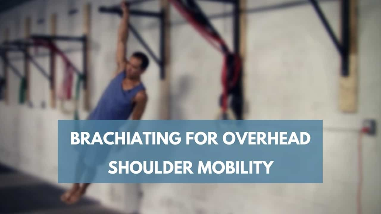 brachiating for overhead shoulder mobility