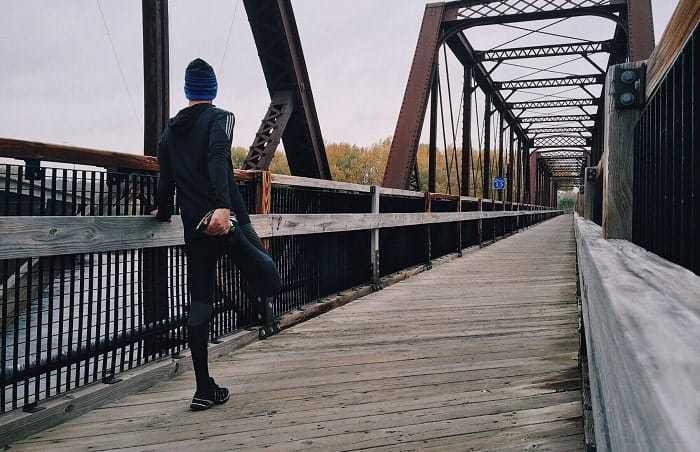 shin splint stretches - runner