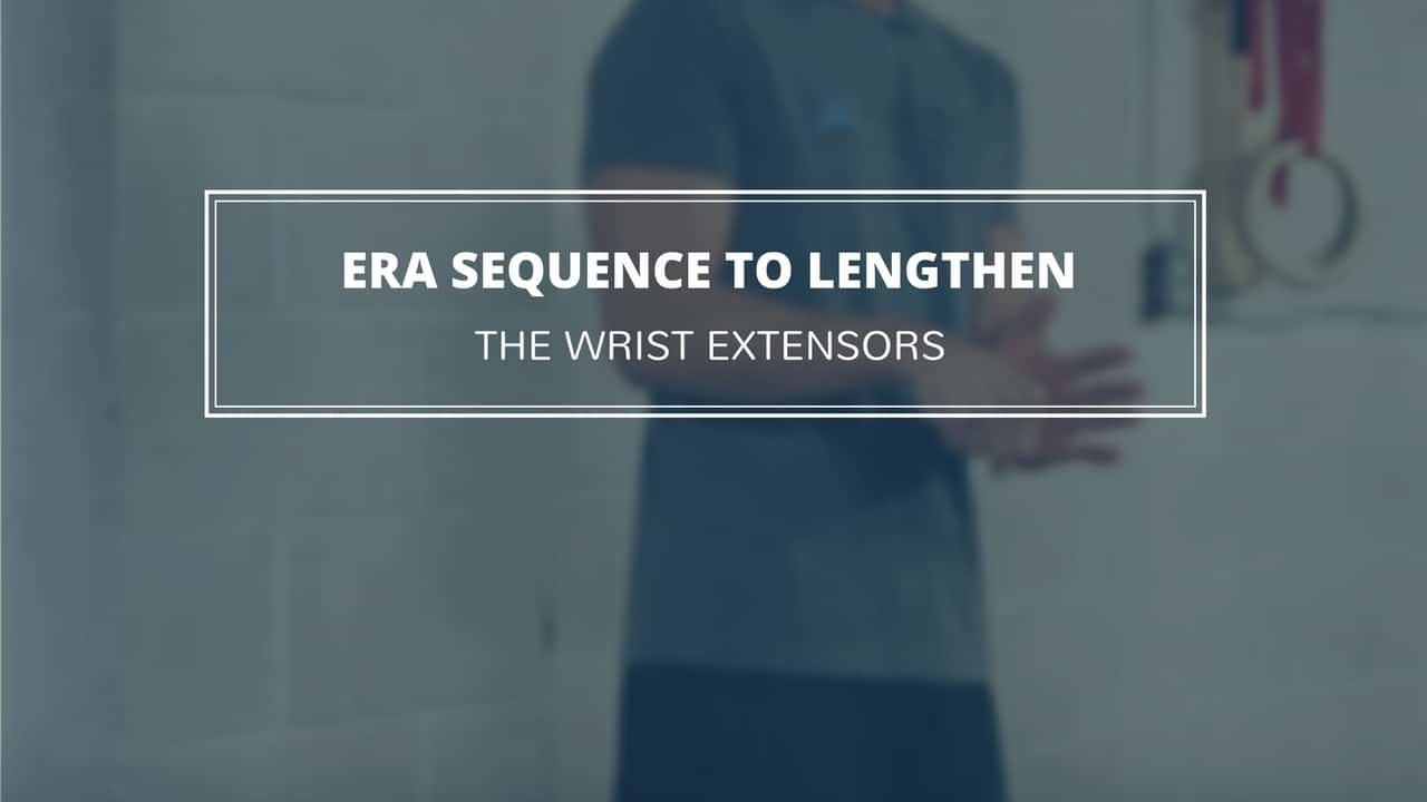 This four-way wrist extensor stretch challenges the wrist extensor muscles in a whole new way for lasting gains in strength and mobility.