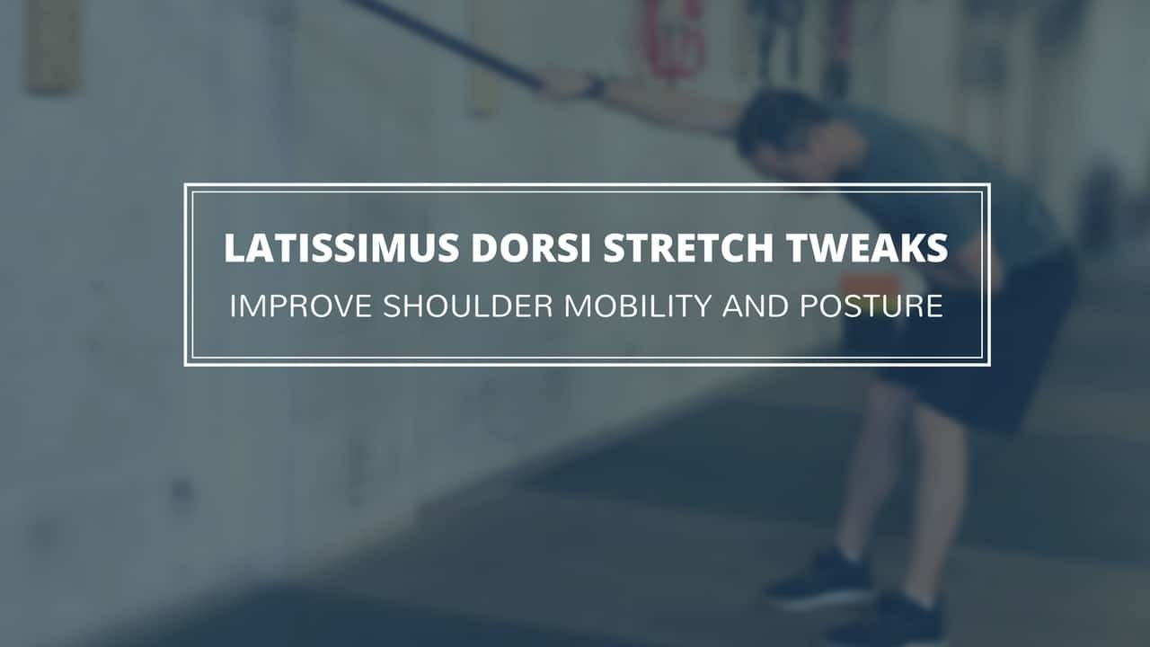 It's time to upgrade the basic latissimus dorsi stretch. A few simple tweaks can make this stretch more effective at loosening your lats and shoulders and improving posture.