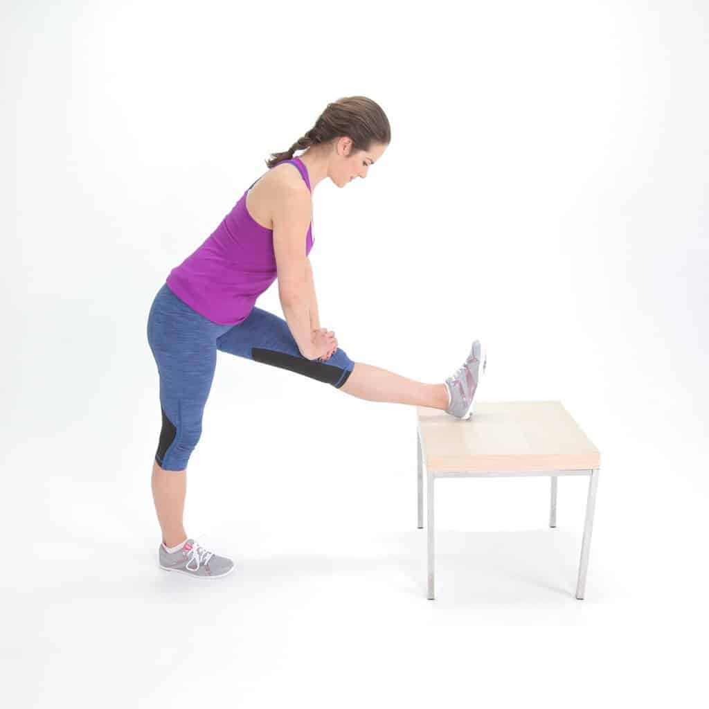 how to stretch tight hamstrings - standing hamstring stretch