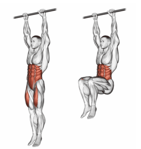 rectus femoris stretch hanging leg raise