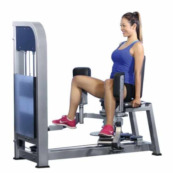 hip abductor stretches - exercise machine - fitness