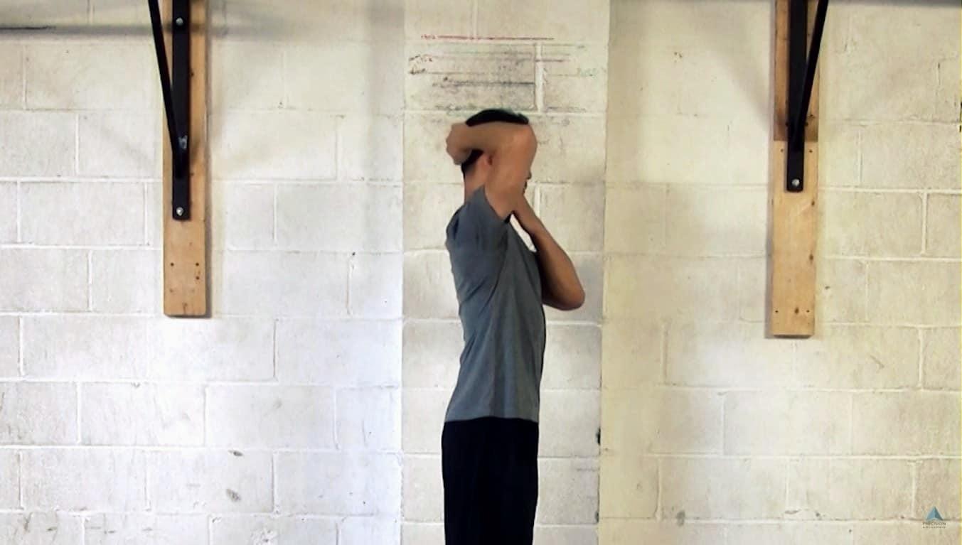 levator scapulae stretch chin tuck stretch