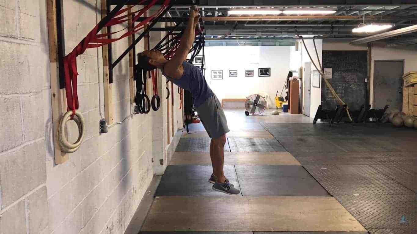 arching active hang - improve overhead mobility
