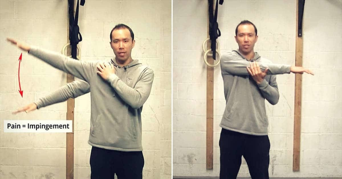 shoulder impingement tests, the painful arc test and the horizontal adduction test