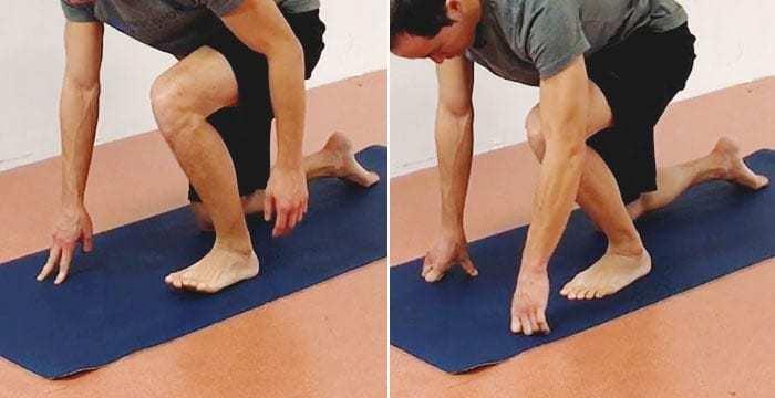 ankle dorsiflexion exercise level 1