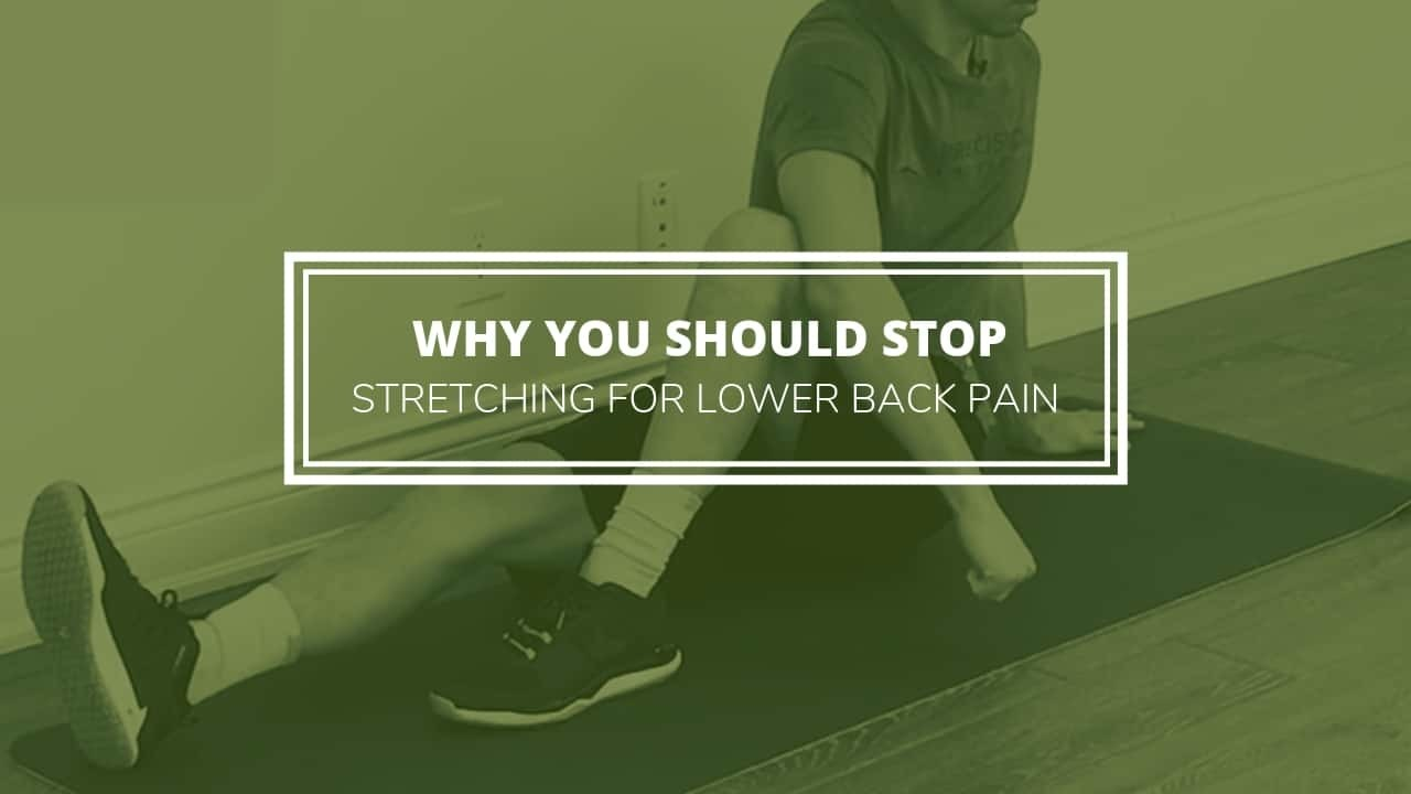 lower back stretches - what to do to stop pain