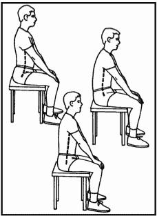 sitting at the desk - pelvic tilt exercises