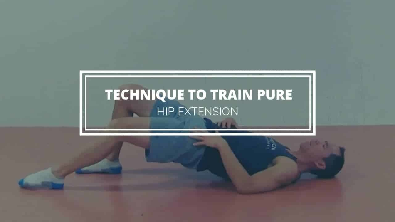 technique to train hip extension