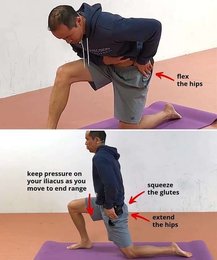 hip flexor exercise step 1 Active Self-Myofascial Hip Flexor Release