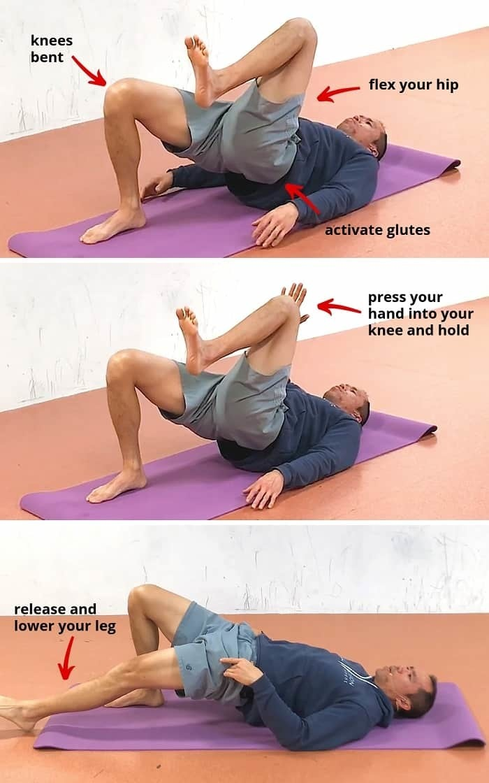 hip flexor exercise step 2 Dead Bug Hip Bridge
