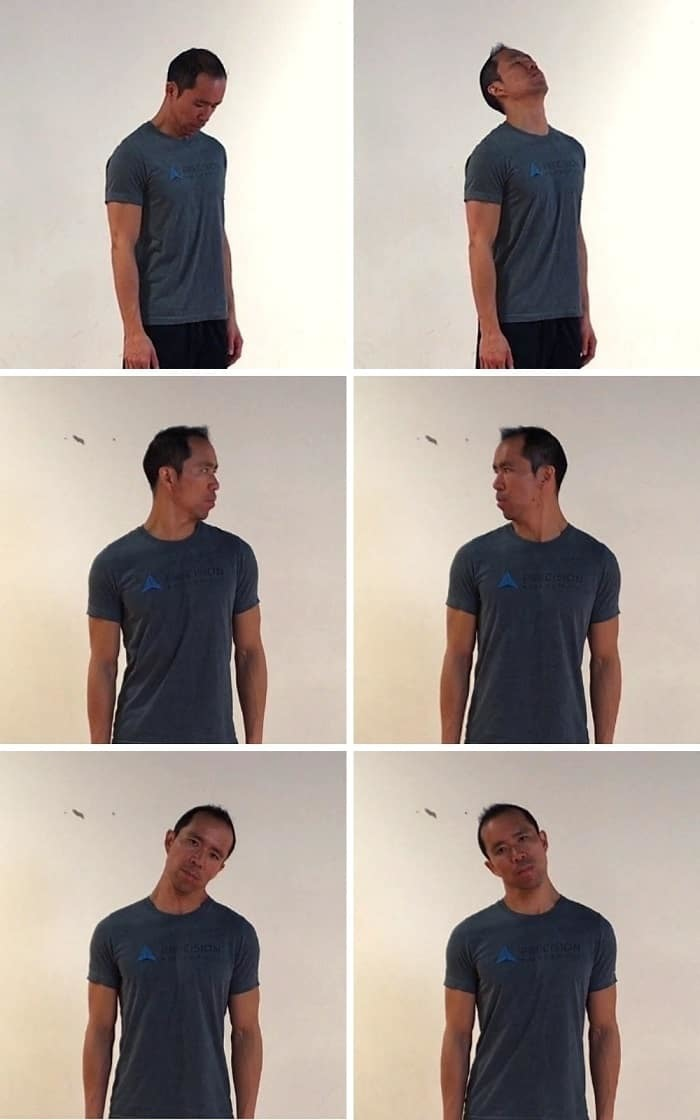 6-Way Neck Movement - golf warmup routine