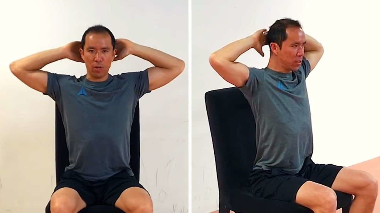 Hands Behind the Head Lift Off - shoulder posture exercise