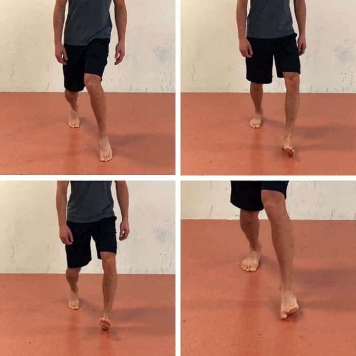 Split Stance CC Ankle Circles - golf warmup exercise