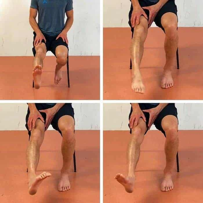 knee ankle feet exercises - ankle CARs