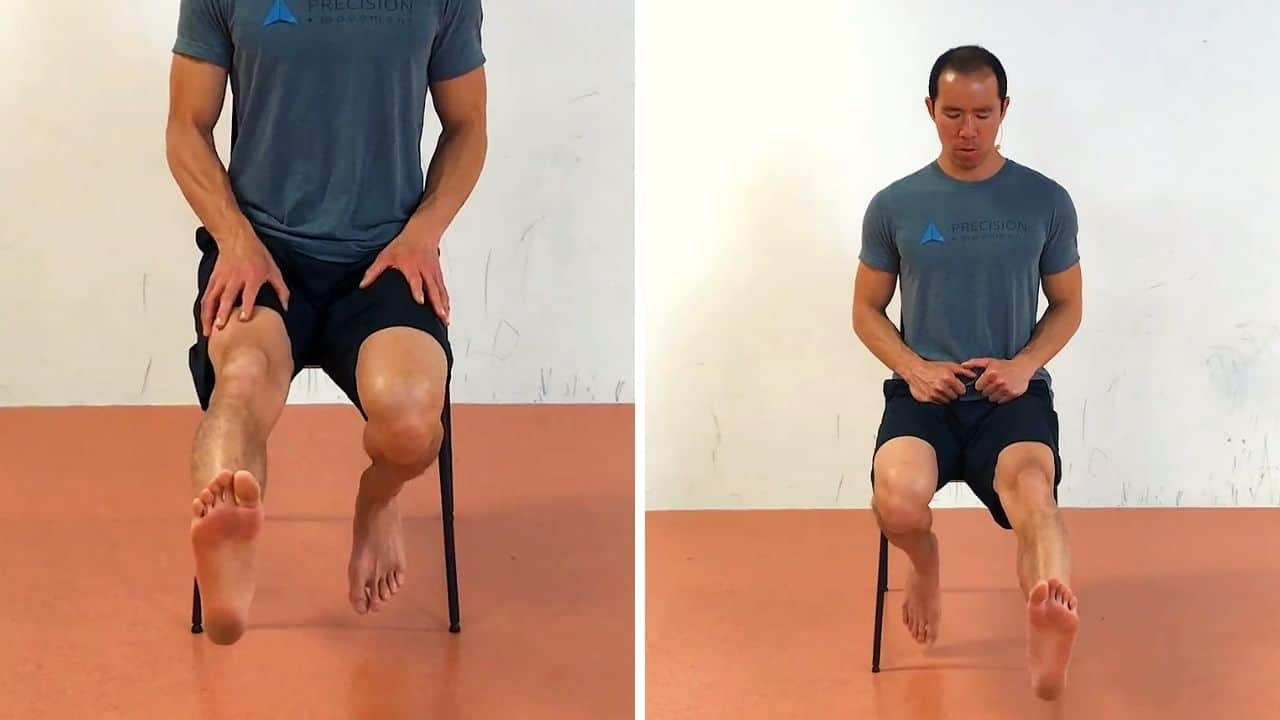 knee ankle feet exercises - reciprocal knee flexion extension