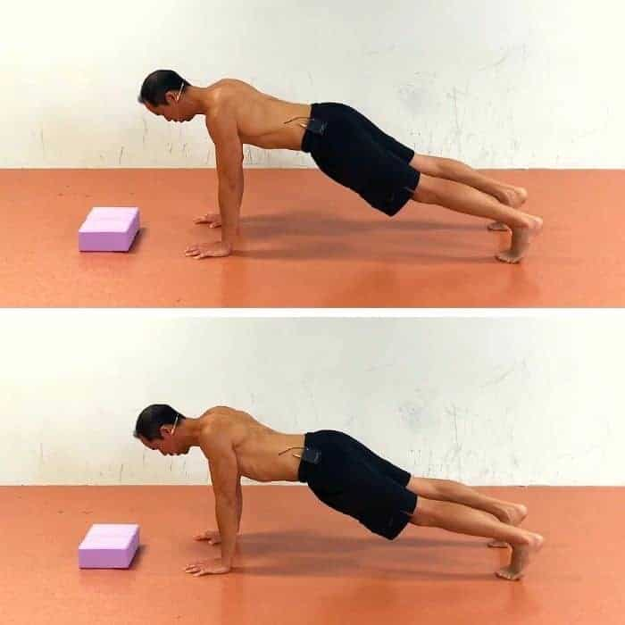 serratus anterior exercise 3 scapular pushups on toes