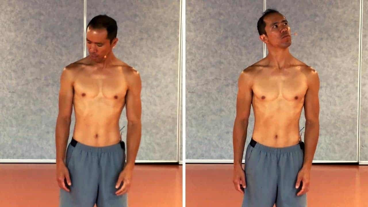 stiff neck exercise 02 - diagonal neck rotation