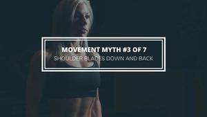 shoulder blades down and back